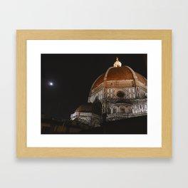 Duomo di Firenze at Night Framed Art Print