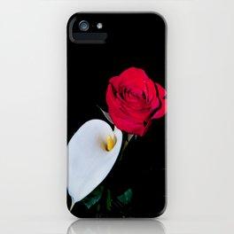 Calla Lily & Rose iPhone Case