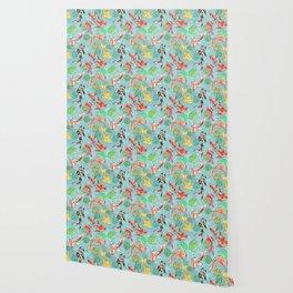 Koi pond Wallpaper