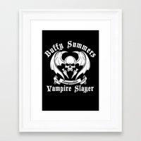 buffy the vampire slayer Framed Art Prints featuring Buffy the vampire slayer by CarloJ1956