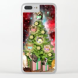 MERRY CHRISTMAS CATS Clear iPhone Case