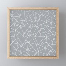 Abstraction Outline Grey Framed Mini Art Print