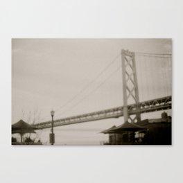 Coffee by the Bridge Canvas Print