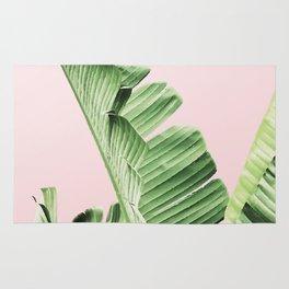 Banana Leaf on Pink Rug