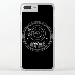 Aim True - Black & White Clear iPhone Case