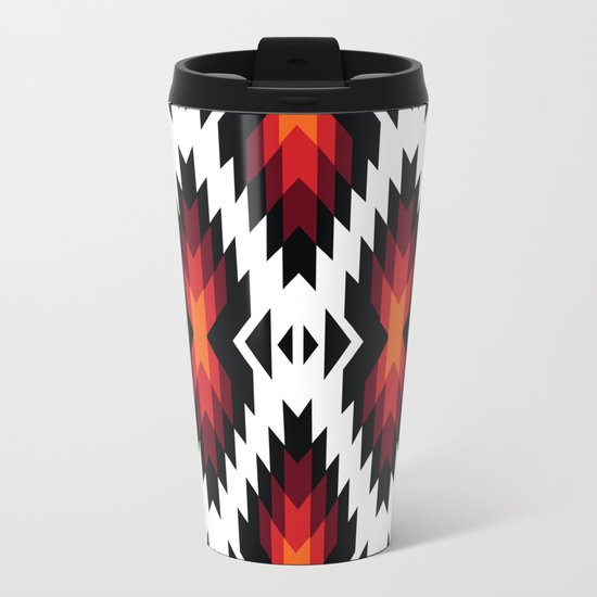 American Native Pattern No. 13 Metal Travel Mug