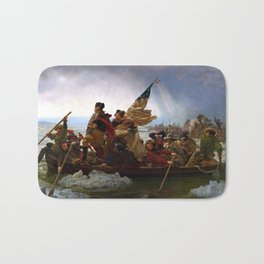 Washington Crossing The Delaware River Bath Mat