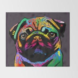 Pug Dog Throw Blanket