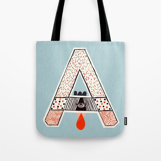 """a to z - """"A"""" Tote Bag"""