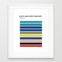 The colors of - kiki's delivery service  Framed Art Print