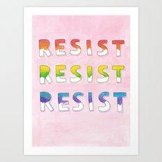 resist resist resist Art Print