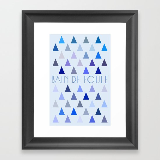 Bain de Foule. Framed Art Print