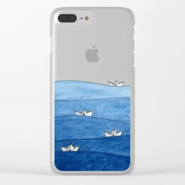 Paper boats Clear iPhone Case