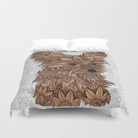 yorkie Duvet Covers featuring Cute Yorkie by ArtLovePassion