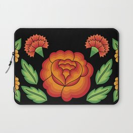 Mexican Folk Pattern – Tehuantepec Huipil flower embroidery Laptop Sleeve