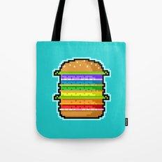 Pixel Hamburger Tote Bag