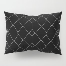 Black and White Grid Pattern Pillow Sham