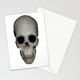 Human Skull Vector Isolated Stationery Cards