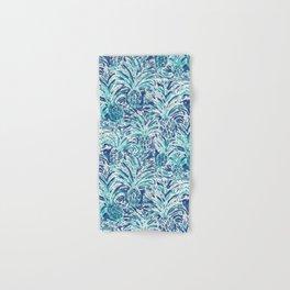 PINEAPPLE WAVE Blue Painterly Watercolor Hand & Bath Towel