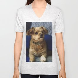 The Cute Pup Unisex V-Neck