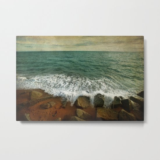 Beside the Sea IV Metal Print
