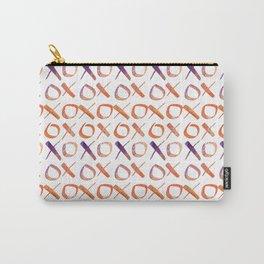 xoxo Watercolor Purple Orange Carry-All Pouch