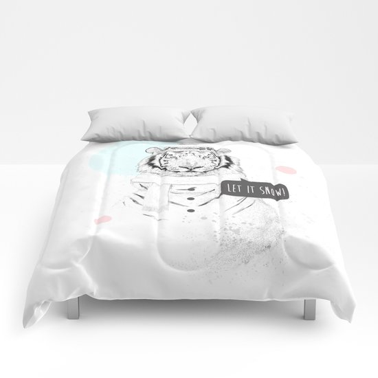 Snow tiger Comforters