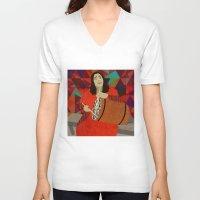 mercedes V-neck T-shirts featuring Folklore by Design4u Studio