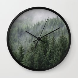 Fog Forest Wall Clock