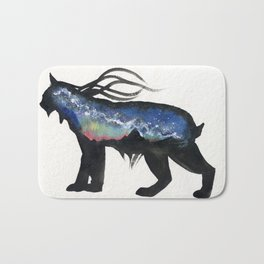 Aurora Milky Way Lynx. Bath Mat
