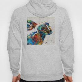 Colorful Skunk Art - Dee Stinktive - By Sharon Cummings Hoody