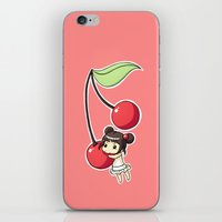cherry iPhone & iPod Skins featuring Cherry by Freeminds