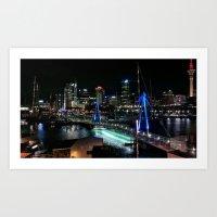 Auckland harbour, New Zealand. Art Print