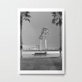 Night in Barceloneta beach Metal Print