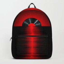 Vinyl sunset red Backpack