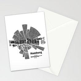 Hamburg Map Stationery Cards