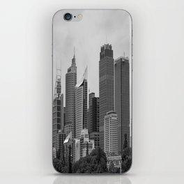 Retro Skyline iPhone Skin