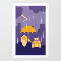 wall e Art Prints featuring Wall-E by Gardner Art and Design