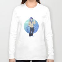 vocaloid Long Sleeve T-shirts featuring Kaito - VOCALOID Gakuen by Tenki Incorporated