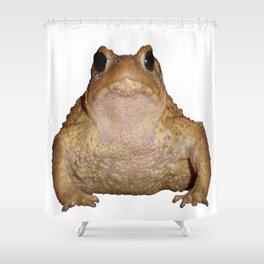 Bufo Bufo European Toad  Isolated Shower Curtain