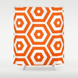 Pop Art Colour Based Hexagon Pattern Shower Curtain