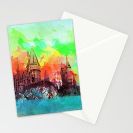 Watercolor Hogwarts Stationery Cards
