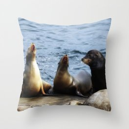 Singing Lessons Throw Pillow