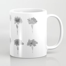 Monochrome Flowers - minimalistic pattern of carnations in ink Coffee Mug