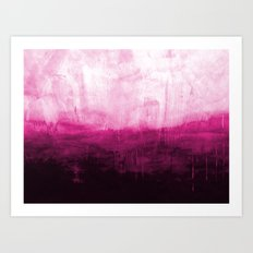 Paint 7 pink abstract painting ocean sea minimal modern bright colorful dorm college urban flat Art Print