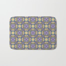 Pattern 24 lilac-yellow Badematte