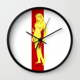 Flame Girl Wall Clock