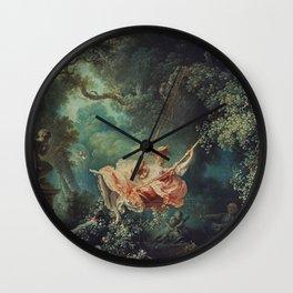 THE SWING - JEAN-HONORE FRAGONARD Wall Clock