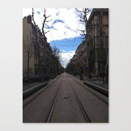 tram tracks in Marseille (daytime) Canvas Print