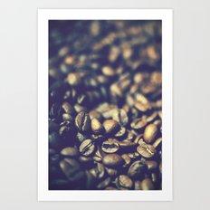 Vintage coffee Art Print